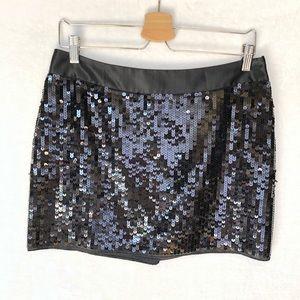 NWT Express Black Sequin Mini Skirt Women's 6